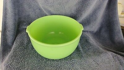 Vintage Jadite Green Sunbeam (No Markings) Large Mixer Mixing Bowl With Dimple