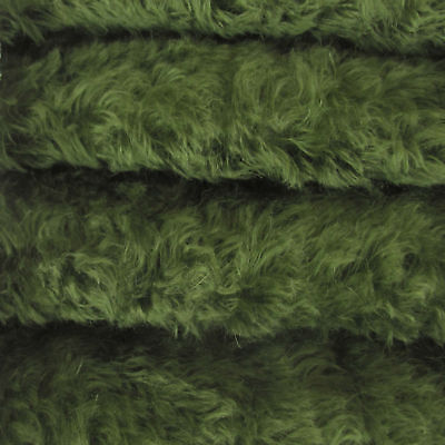 "1/4 yd 785S/C Forest Green INTERCAL 3/4"" Med. Dense Curly German Mohair Fabric"