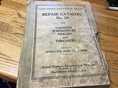 John Deere Harvester Works Repair Catalog1934