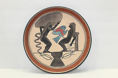 Hand Painted Creece Greek Plate Mythology Atlas Prometheus 11""