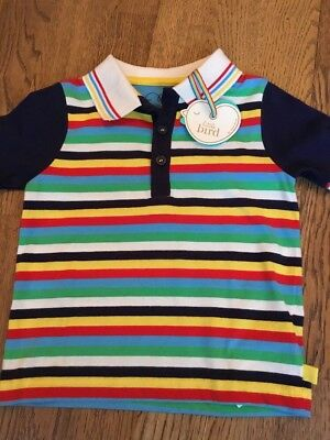 Little Bird By Jools Oliver Boys Striped Polo Shirt / Top Age 18-24 Months