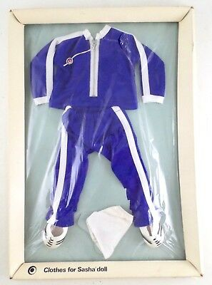 Vintage Clothes for Sasha Gregor Doll Track Suit Outfit #806 by Trendon NIP