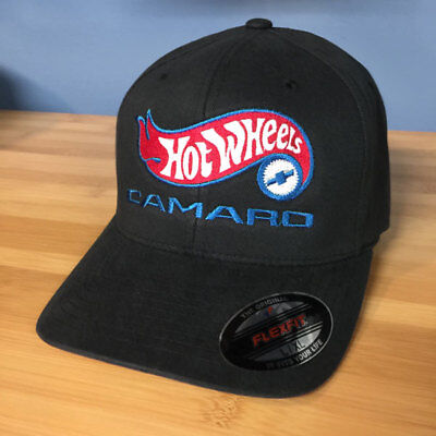 EMBROIDERED HOT WHEELS 50th Camaro Style Flex-Fit Hat Choose Size
