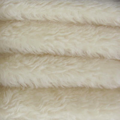 "1//3 yd ALP7S Cream INTERCAL 3//8/"" Medium Dense German Alpaca Blend Fur Fabric"