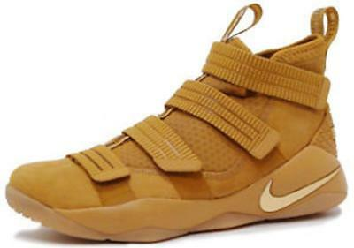 buy popular 614ac d8af7 NEW NIKE LEBRON James Soldier XI SFG Wheat Gold Shoes sz 11 $140
