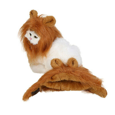 Pet Costume Lion Mane Wig for Pet Dog Cat Party Clothing Fancy Dress up Cosplay