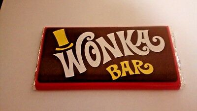 Willy Wonka Chocolate Bar Gift Golden Ticket Inside Great original gift