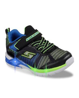 10d787a49100 New SKECHERS BLACK BLUE LIME ERUPTERS 2 LAVA WAVE Youth BOYS SHOES sneakers