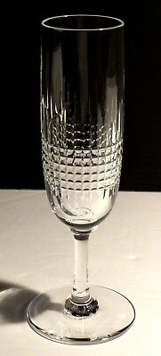 """1 Baccarat Crystal Nancy Fluted Champagne Glass~ Double Signed ~ 6 7/8"""""""
