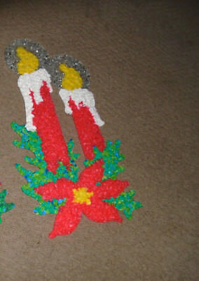 Vintage Christmas Candles Melted Plastic Popcorn(4 sets available)