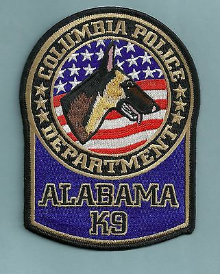 Columbia Alabama Police K-9 Unit Patch