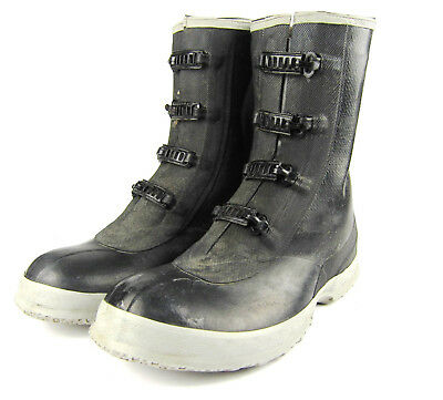 Vtg Converse Rubber Overshoes Galoshes Boots Metal Buckles Mens 11XW 1950s 40s?