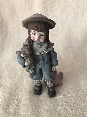 "Sarah's Attic Forever Friends Ruby Figurine  4 1/4"" Vintage 1991"