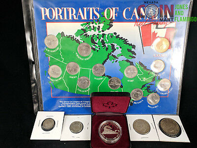 Canada Coin Collection With 5 Silver Coins Assorted Dates & Condition #6544