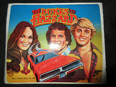 1981 Dukes of Hazzard Decal for Lunch Box * Vintage * UNUSED * Very Rare ! TV