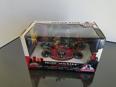 HEROCLIX HORRORCLIX HELLBOY AND THE B.P.R.D. 7 Figure Action Pack MIB WIZKIDS