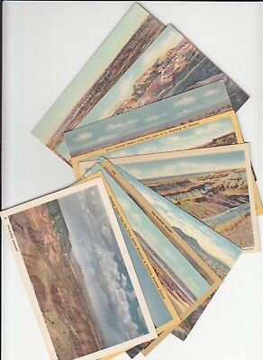 Lot of 10 Painted Desert Arizona AZ Vintage Era Linen Postcards U.S. Route 66