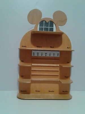 Disney Perpetual Calendar wood shelf only
