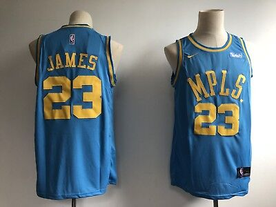 3c6611892d6 Men's Los Angeles Lakers LeBron James #23 Blue MPLS. New Basketball Jersey