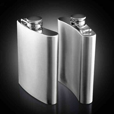 Stainless Steel Hip Liquor Whiskey Alcohol Flask Cap 2-10 oz Pocket Wine Bottle