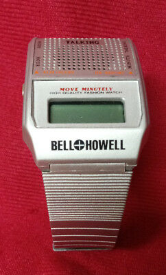 Vintage Bell and Howell Talking Watch