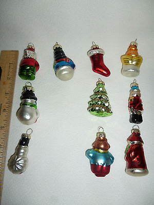 10 blown glass christmas ornaments by merry brite 2008 cvs pharmacy 2 tall - Pharmacy Christmas Ornaments