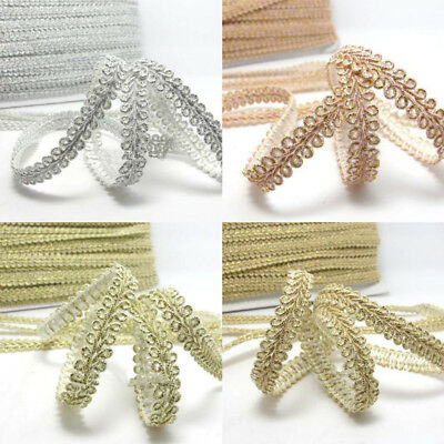 5M Trim Sewing Lace Centipede Braided Curve Lace DIY Sewing Craft Ribbon DIY