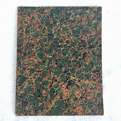 Blank Antique Composition Book School Notebook Journal Marbled Paper Victorian