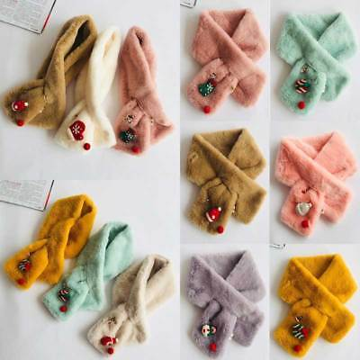 Kids Ring Neck Scarves Winter Warm Boys Girls Collar Baby Scarf Christmas Gift