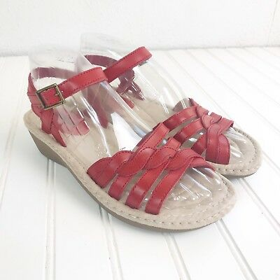 3ee5d0b27d0 COBBIE CUDDLERS WOMEN S Rita Red Wedge Sandals Shoes Size 7.5 Wide ...