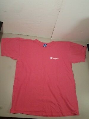 Vintage Champion Classic Spellout T-Shirt Size X-Large Pink Made in USA