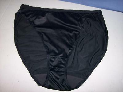 "VTG""BALI"" BLACK HI-CUT HIPSTER-SIGNATURE BAND NYLON/SPANDEX BRIEF/PANTIE sz:L/XL"