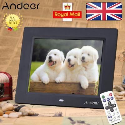 """Andoer 8"""" HD TFT-LCD Digital Photo Frame Picture Alarm Clock MP3 MP4 Video Movie"""