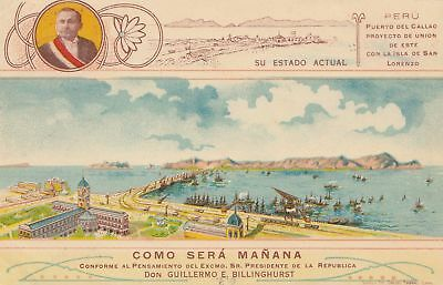 Peru 1914: post card Lima como Sera Manana, to Backnang