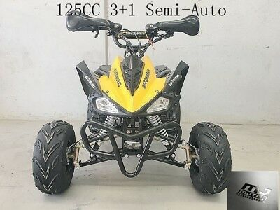 125CC ATV Quad Dirt Bike 4 Wheel Buggy Semi Auto 3+1 Sports Go kart