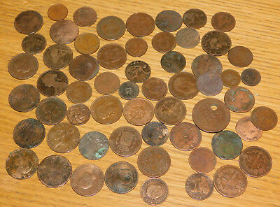 LOT ancien PIECES en CUIVRE world coins FRANCS monde PORTUGAL alt münzen GERMANY