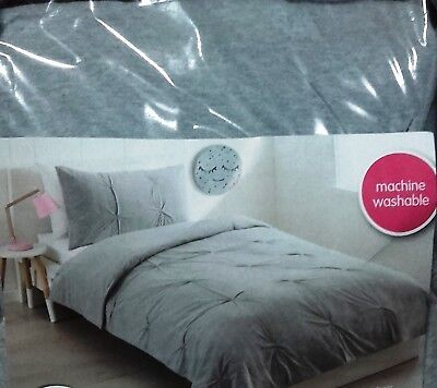 COTTON/POLYESTER JERSEY PINTUCK COMFORTER SET SINGLE BED SIZE - Brand New
