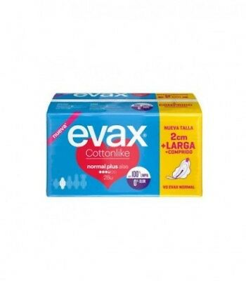 Evax Cottonlike Normal Plus Compresa Con Alas 28 Uds