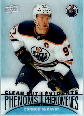 2018-19 UD TIM HORTONS CLEAR CUT PHENOMS CONNOR MCDAVID INSERT CARD New!! Oilers