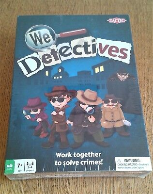 WE DETECTIVES BOARD GAME by TACTIC GAMES. FAMILY FUN DETECTIVE GAME SEALED NEW