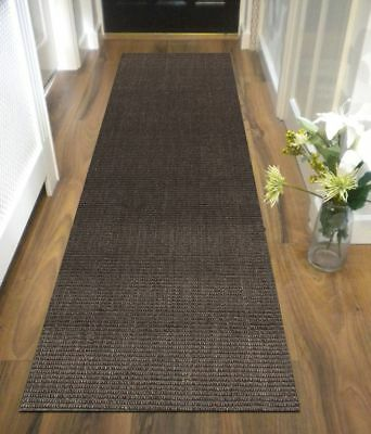 HALLWAY RUNNER HALL RUNNER RUG NATURAL SISAL BOUCLE CHARCOAL 300cm x 80cm