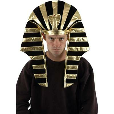 EGYPTIAN PHARAOH HAT King Costume Party Ancient Fancy Dress Halloween Pharoah