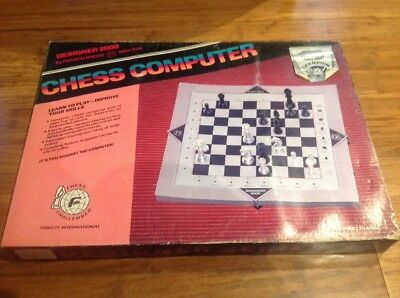 Vintage Designer 2000 By Franco Rocco Chess Computer.New In Box.Free Post