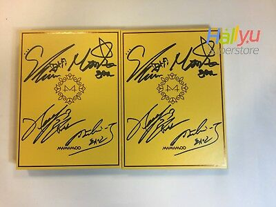 "Mamamoo ""Yellow Flower"" 6th Min : Autographed(Signed)  Promo Album -MUST READ!!!"