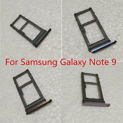 para Samsung Galaxy Note 9 N9600 Dual Single SIM Card Tray Holder Slot Adaptador