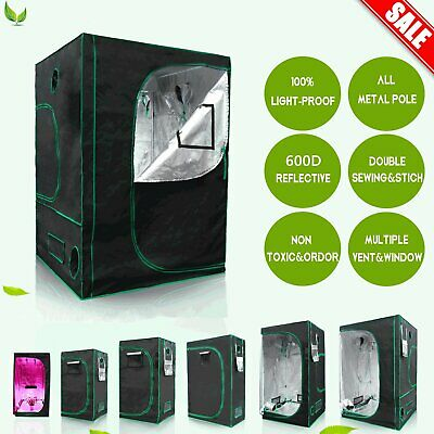 New Grow Tent All Size Bud Dark Green Room Hydroponics Box Mylar Silver Cheap UK