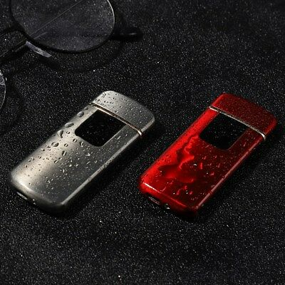 Fingerprint Touch  Electric Lighter USB Rechargeable Windproof Flameless red