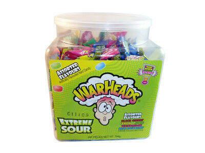 Warheads - Extreme Sour Candy Pieces (240 pieces in a Display Tub)