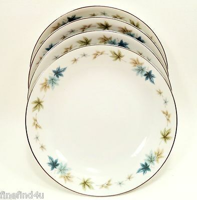 """Four Seasons by Grant Crest Fine China Set(s) 4 Coupe Soup Cereal Bowls 7 1/2"""""""