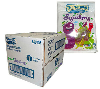 The Natural Confectionery Co. - Sour Squirms (240g bag x 16pc box)